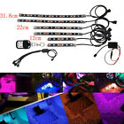 6 Pcs Multi Color RGB Motorcycle ATV LED Light NEON Glow Strip Flexible Remote