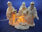 LIGHTED ONE PIECE NATIVITY WHITE WITH 24K GOLD 7 BY 9 DILLARDS
