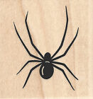 Spider Halloween Wood Mounted Rubber Stamp IMPRESSION OBSESSION C14144 New