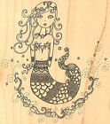 Mermaid Wood Mounted Rubber Stamp IMPRESSION OBSESSION NEW J10027