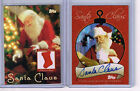 2007-TOPPS SANTA CLAUS HOLIDAY SET AUTOGRAPH AND PIECE OF SANTA SUIT LOT (2)