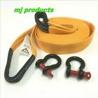 Tow Strap 8 ton rated  9m x 60mm  equalizer strap/winch extension strap 2 x bows