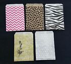 LOT 100 PAPER GIFT BAGS  JEWELRY BAG POUCH 5 COLORS  4 SIZES BUY 9 GET 1 FREE
