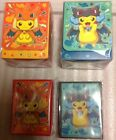 Sealed Pokemon Mega charizard Poncho pikachu x y deck boxes and 128 count sleeve