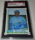 1982 Topps Traded 125T Bob Watson Signed Card SGC 86 NM+ 7.5 Auto 8 Braves