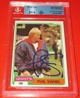 1981 Topps Phil Simms Signed Card BGS JSA Auto New York Giants