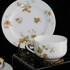 ANTG LIMOGES FRANCE HAVILAND MAPLE LEAF 2 SETS TEA CUP SAUCER/SIDE PLATE c.1931