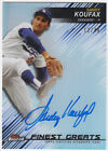 Sandy Koufax 2016 Topps Finest Greats Autograph Refractor On Card Auto 12 40