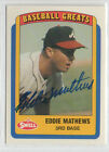 Top Eddie Mathews Baseball Cards Rookies Vintage