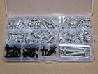 Motorcycle Sportbike Complete Fairing Bolts Kit Fastener Clips Screws Silver