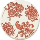 Corelle Red Paisley Absorbent Stone Coaster, 4-Pack. Huge Saving