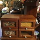 COUNTRY STORE MINIATURE RARE  SEED CABINET  small size