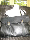 DESIGNER GINA BACI GENUINE LEATHER PURSE SHOULDER BAG HAND BAG IN JET BLACK