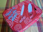 WIZARD OF OZ RUBY SLIPPERS TIN LUNCHBOX TOTE 10X7 LUNCH BOX
