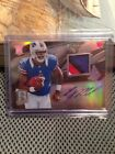 2013 Spectra EJ Manuel On Card Auto 4-Color Patch Rc 72 99