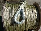 New 3 8 x 100 Double Braid Nylon Gold White Anchor Line