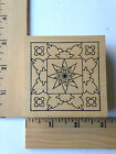 Rare Outlines Rubber Stamps Sq Med Frame 1 NEW
