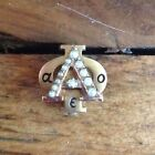 10K Solid Gold and Seed Pearl Alpha Phi Sorority Pin
