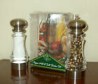 Chef Specialties 65 Acrylic Pepper Mill  Salt Shaker Set  New in Box  Clear