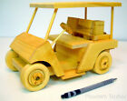 New Handmade Wooden Model Golf Cart, 9-1/2