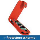 Rosso Eco Pelle Custodia per Apple iPhone 3G 3GS 16gb 32gb Case Cover Protezione