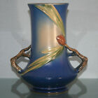Roseville Pine Cone Blue 8 inch Handled Vase 842-8  Pinecone 1935 EXCELLENT