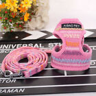 Pink Breathable Mesh Chest Plate Dog Harness and Leash Set For Chihuahua Poodle