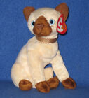 TY SIAM the SIAMESE CAT BEANIE BABY - MINT with MINT TAGS