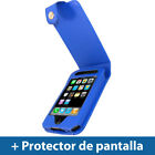 Azul Funda Cuero Eco Piel para Apple iPhone 3G 3GS 16gb 32gb Carcasa Case