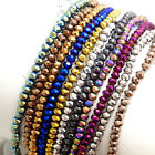 Rondelle Faceted Crystal Glass Loose Spacer Beads Wholesale 3mm 4mm 6mm 8mm
