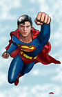 Superman Christopher Reeve movie DC comics fly 11x17 signed print Dan DeMille