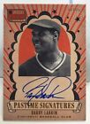 Barry Larkin 2013 Americas Pastime Signatures GOLD on-card Auto #'d 17 25 - REDS