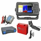 Garmin STRIKER Plus 5cv Echolot  & Fishfinder mit ClearVü Portabel Set-2