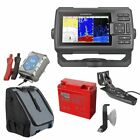 Garmin STRIKER Plus 5cv Echolot & Fishfinder mit ClearVü Portabel Set-1