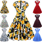 Housewife 40s 50s Retro Vintage Pinup Cocktail Party Dress Casual Summer Tea