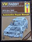 Haynes Repair Manual 1975 - 1992 Volkswagen Golf, Jetta, Scirocco and Pick-up