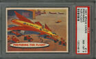 1957 TOPPS 'SPACE CARDS' #14 PREPARING FOR FLIGHT, PSA NM-MT 8(NO MINT 9's,10's)