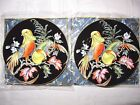 Fitz and Floyd Gold Decorated Fine Porcelain Salad Plates Chinese Pheasants NIB