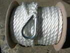 New 3 8 x 100 Twisted Nylon Anchor Line White