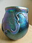 VERY EARLY CHARLES LOTTON LAVA GLASS VASE 1975--GORGEOUS IRIDESCENSE