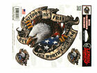 USA Flag Eagle Freedom Sticker For Motorcycle Windshield Fairing Lethal Threat