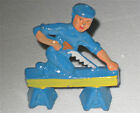 Manoil Carpenter Sawing Board; Happy Farm Figure;Near Mint With Woolworth Tag