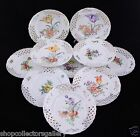 ANTIQUE SET OF 10 SILESIA GERMANY RETICULATED DESSERT PLATES - MINT