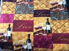 Love Live laugh wine bottle glass fleece fabric 60w sold BTY