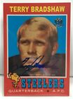 Terry Bradshaw 2015 Topps 60th Anniversary Rookie Reprint Retired Auto STEELERS