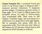 Pumkin Pie Recipe Wood Mounted Rubber Stamp IMPRESSION OBSESSION NEW D3547