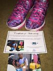 KEVIN DURANT SIGNED AUTOGRAPHED KD8 PRM PINK BCA SHOES GOLDEN STATE WARRIORS-COA