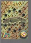 TY beanie Babies Series 3 Wild Cards #46 Ally The Alligator Silver Foil