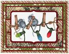 Christmas Lights HOUSE MOUSE Wood Mounted Rubber Stamp STAMPENDOUS NEW HMP53