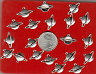 YOU GET 20 SPACE PLANET SATURN metal charms JUNKMANRALF US SELLER C 40